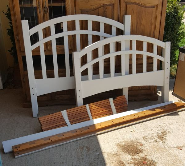 Twin Wood Bed Frame Needs Screws Furniture In Apple Valley Ca