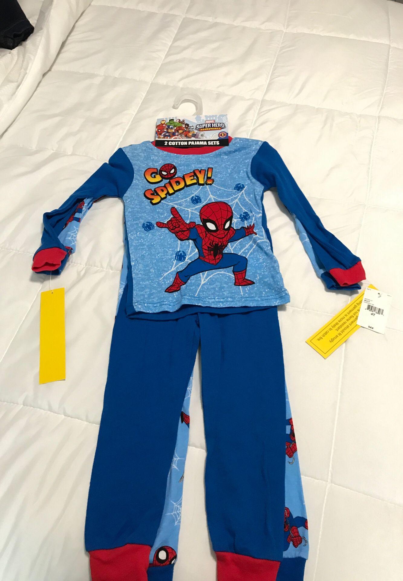 2 Spider-Man pajama sets