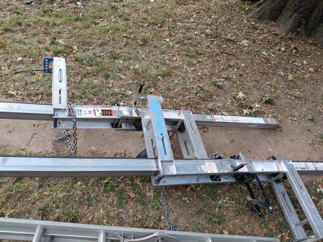 Werner pump jacks for siding
