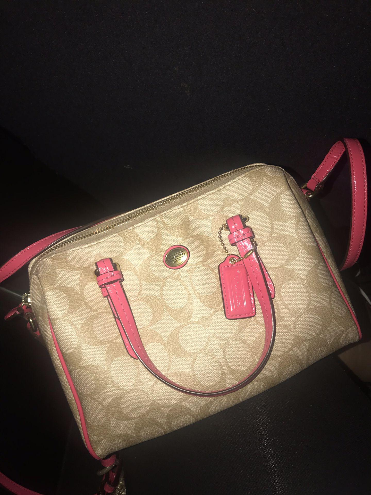 Coach purse hot pink