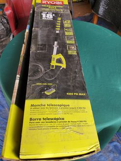RYOBI TELESCOPING POLE FOR USE WITH PRESSURE WASHERS UP TO 4200 PSI Thumbnail