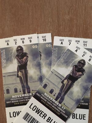 Navy Football vs Tulsa - 4 tickets for Sale in Alexandria, VA