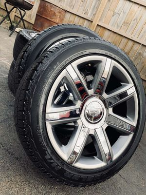 Photo 22 inch oem cadillac escalade wheels with tires