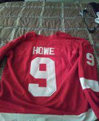 New ALL sewn numbers and letters gordie howe jersey size 48 for Sale in OH, US