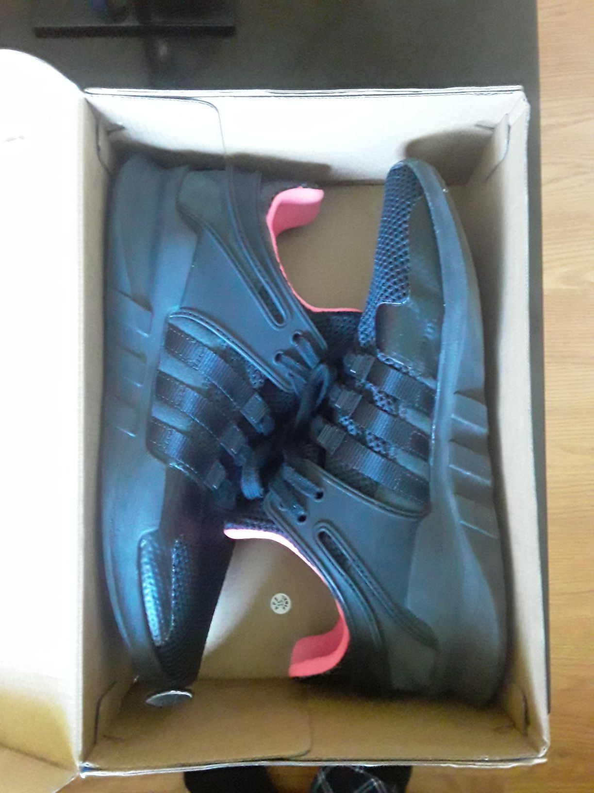 Adidas EQT Supports (black/pink) Size 9.