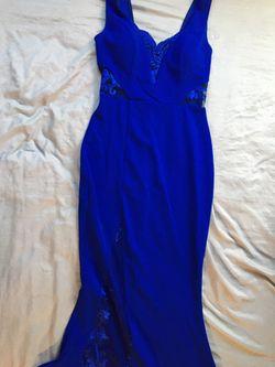 Royal blue prom dress Thumbnail