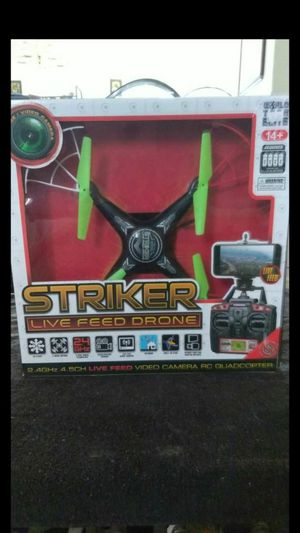 Striker live feed drone with full HD display 1080P comes with everything you see in pictures NOT A TOY WORKS PERFECT $30 for Sale in Deltona, FL