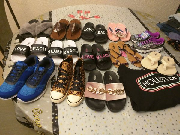 4da72252fa3d Assorted pairs of sandals and shoes brand new for Sale in Opa-locka ...