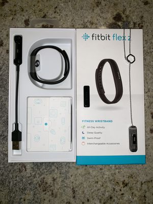 Fitbit Flex 2 Fitness Wristband & Silver Pendant for Sale in Fall City, WA