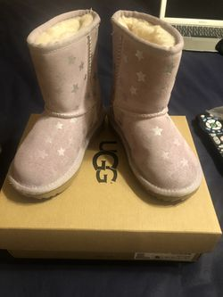 Pink Stars (kids) Toddler Ugg Boot size 9 Thumbnail