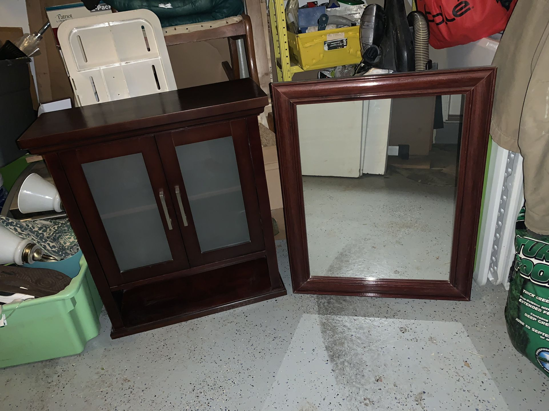 Matching Wall Cabinet And Mirror