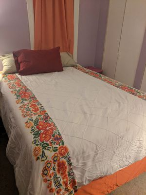 FREE full sized mattress, 4-inch memory foam topper, bed frame for Sale in Baltimore, MD