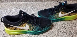 2abca213f Nike Flyknit Air Max Running Training Green Sneakers Shoes Size 10 for Sale  in Queens