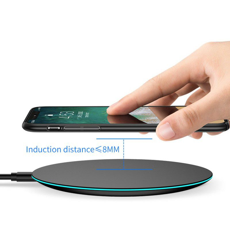Fast Wireless Charger Qi iPhone XS MAX XR 8 Samsung S8 S9