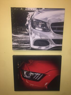Mustang and Mercedes Canvas prints for Sale in Modesto, CA