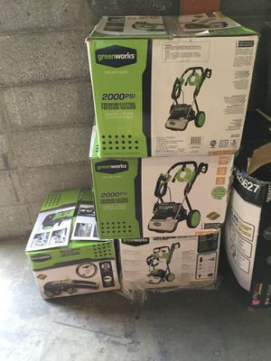 Power washers for sale new in boxes for Sale in Hyattsville, MD