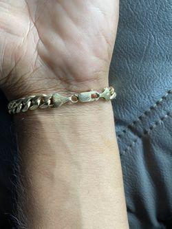 14kyg 7.1mm Cuban Link Braclet Thumbnail