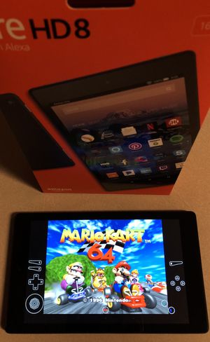 "Amazon HD 8"" tablet (2018 model) with Video Game collection / Watch Movies for Sale in Houston, TX"