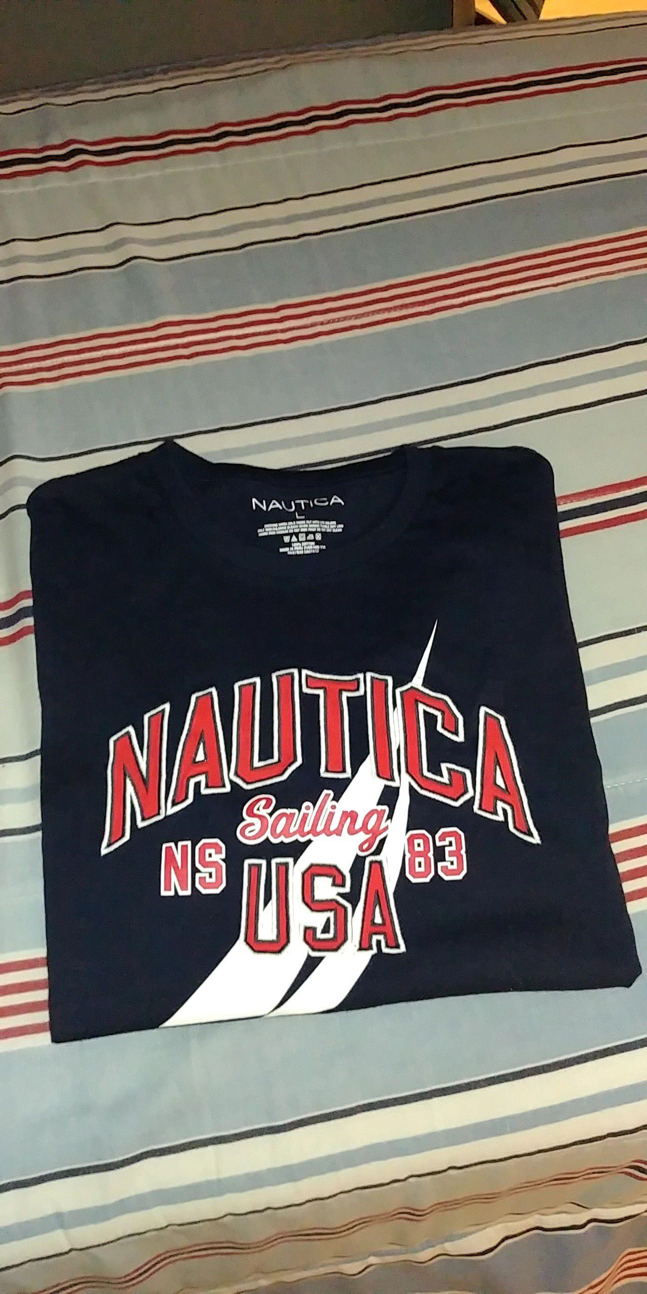 Nautica USA Shirt Sz Large Men