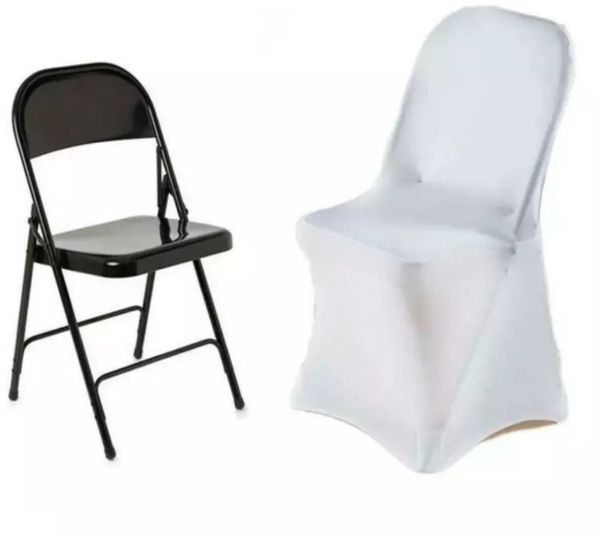 Excellent 100 White Spandex Banquet Chair Covers Condition Is Used Gmtry Best Dining Table And Chair Ideas Images Gmtryco