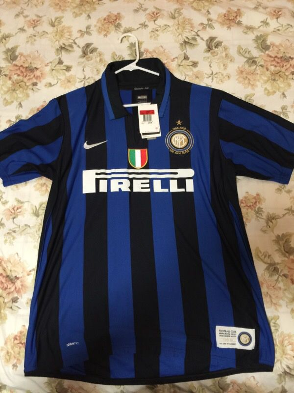 designer fashion 53273 7e9a1 100% authentic RARE Men's large Inter Milan 100th anniversary Nike soccer  jersey $70 Retails for Sale in San Antonio, TX - OfferUp