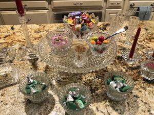 Elegant Crystal Serving Set for Sale in Orlando, FL
