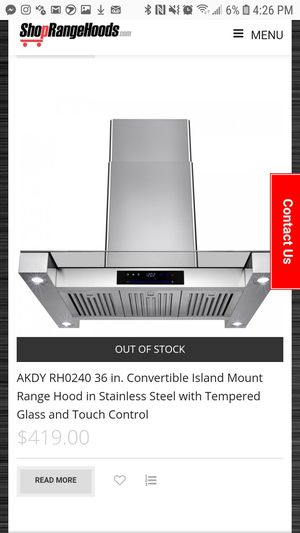 36 in island range hood for Sale in San Diego, CA