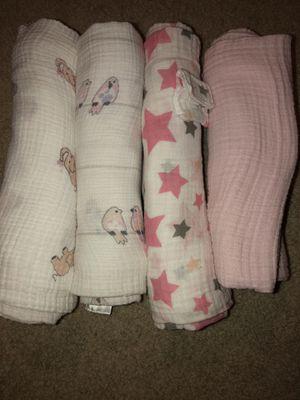 Muslin swaddling blankets for Sale in Manassas, VA