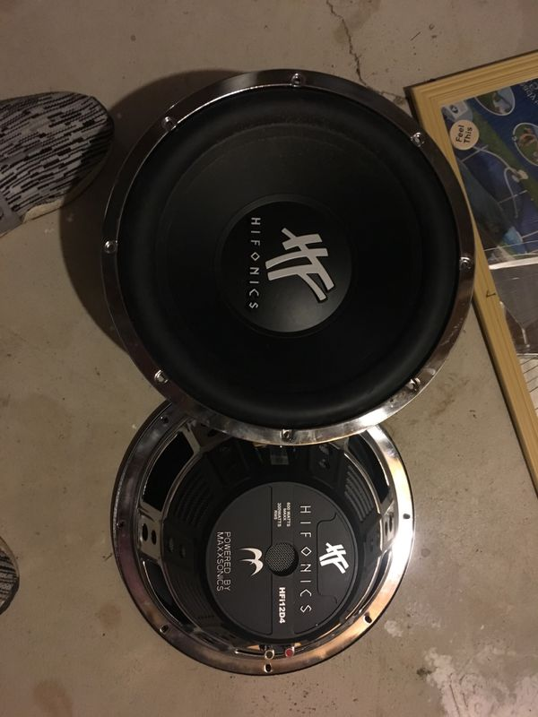 Hifonics 12 inch subs 600 watt peck 300 watts rms hfi12d4 for Sale in New  Baltimore, MI - OfferUp