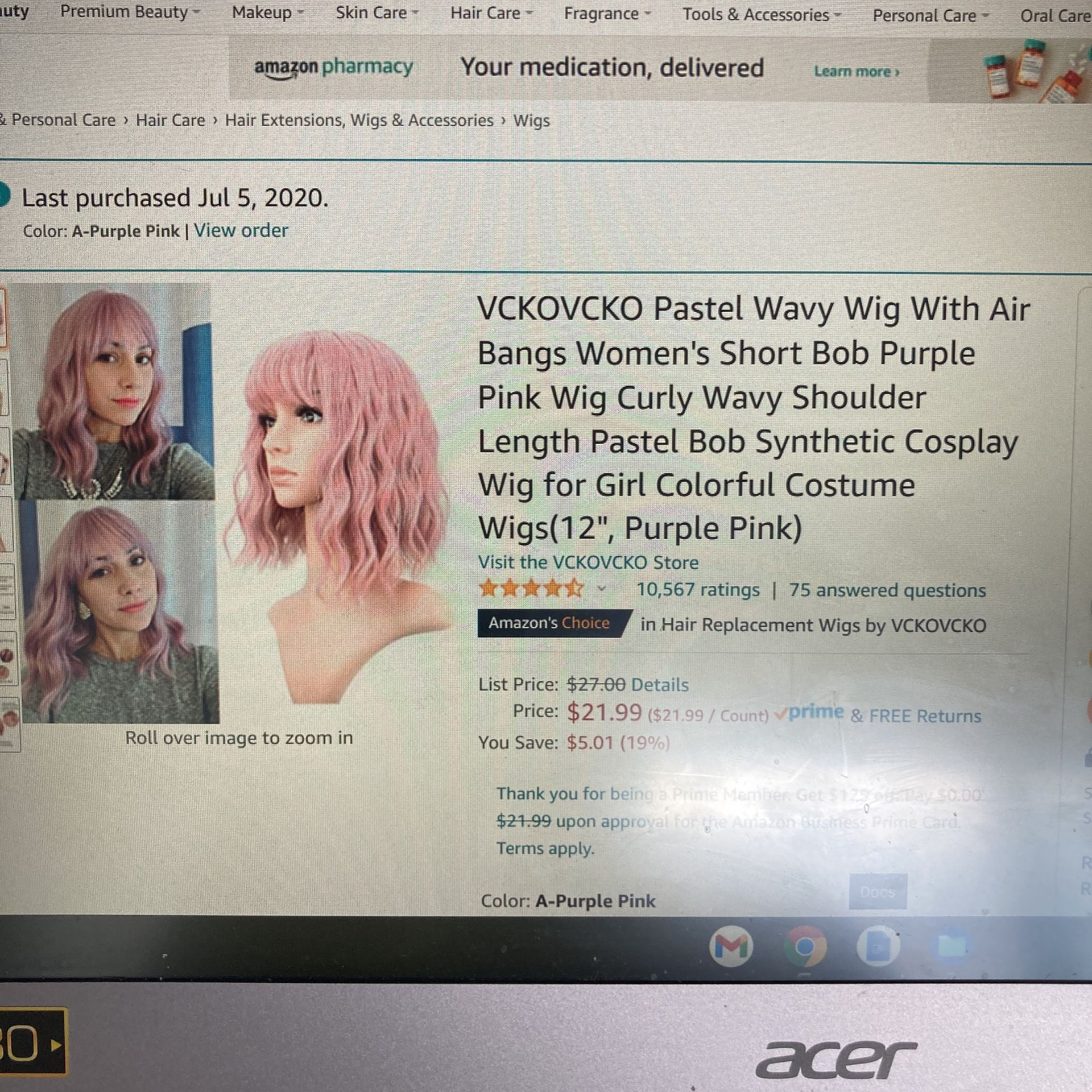 Brand New Wigs!! With Hangers!