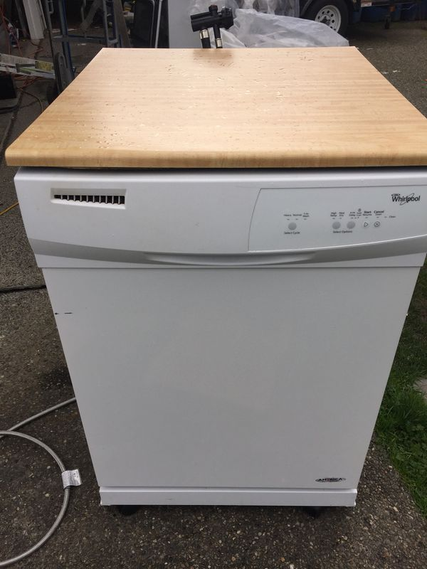 Portable whirlpool white Dishwasher WORKS GREAT for Sale in Monroe ...