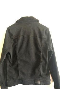Black jean jacket Thumbnail