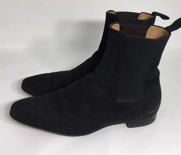 dd90405a76ef Christian Louboutin Mens Samson Black Suede Chelsea Boots Sz.8.5 for ...