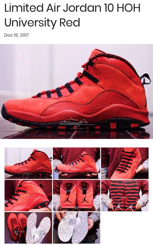 7b1919ba837 Deadstock Limited edition all red Jordan's. SZ. 11 for Sale in Grand ...