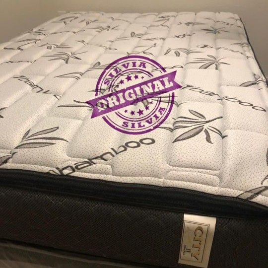 QUEEN MATTRESS  PILLOW TOP COMFORT 👸ALL BED SIZES AVAILABLE KING QUEEN FULL TWIN AND BOX SPRINGS 👸BED FRAME NOT INCLUDED COLCHONES CAMAS NUEVOS