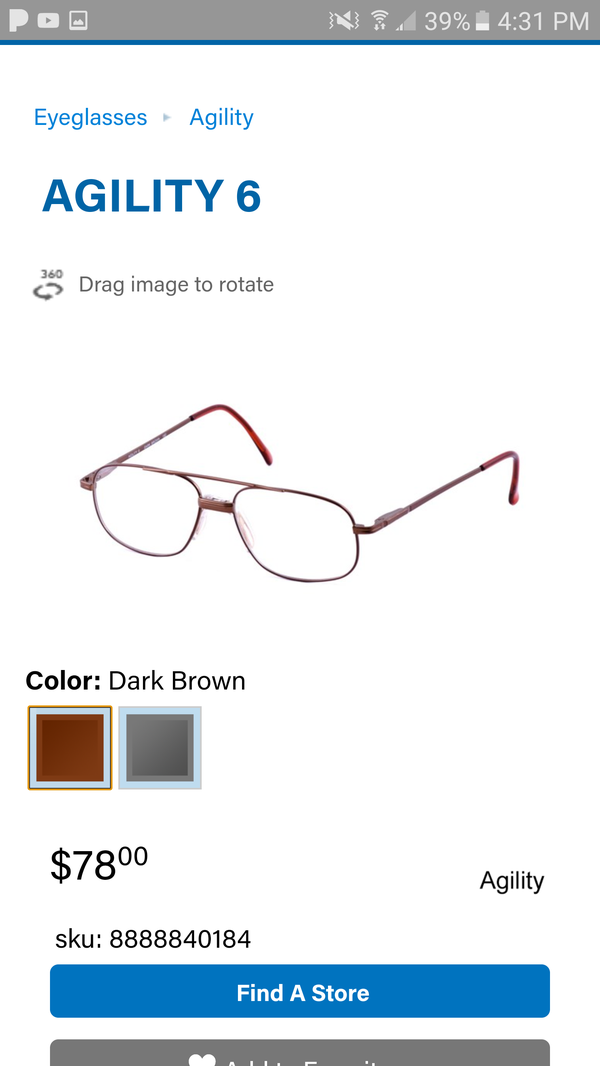 New Authentic Agility 6(Brown) Eyeglasses for Sale in San Antonio ...
