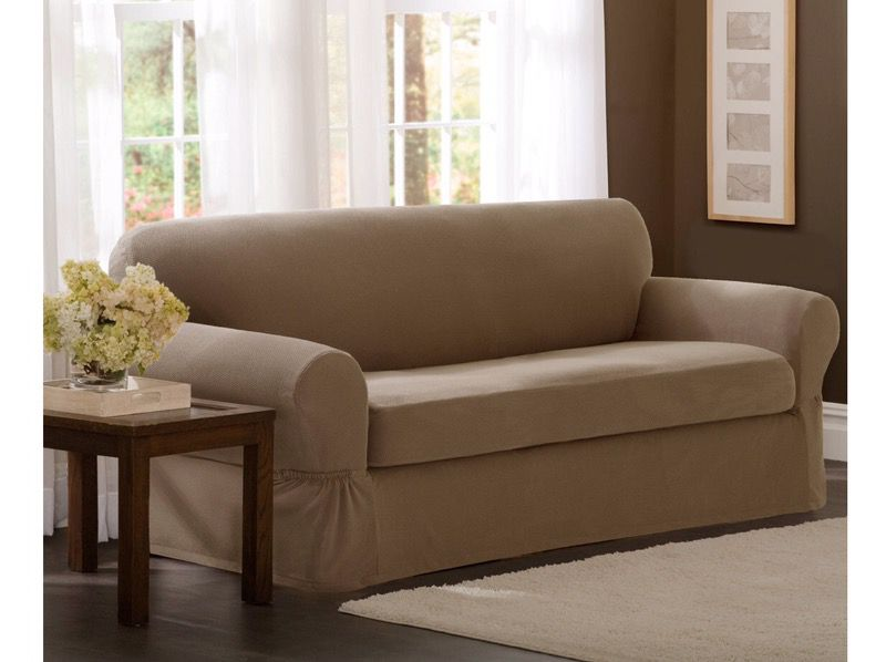 New in Box Maytex Stretch Pixel 2-Piece Sofa Slipcover