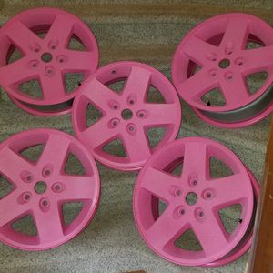 PINK FROSTED JEEP RIMS for Sale in Springfield, VA