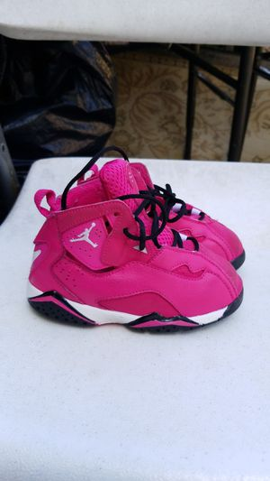 Girl pink jordans size 8 toddler for Sale in Annandale, VA