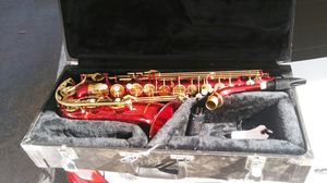 Gorgeous Cherry red saxaphone with carrying case and cleaner for Sale in Mesa, AZ