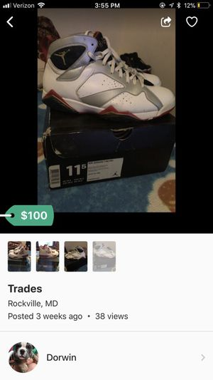 Retro 7 size 11.5 for Sale in Rockville, MD