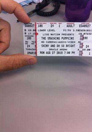 Smashing Pumpkins Concert Ticket for Sale in San Francisco, CA