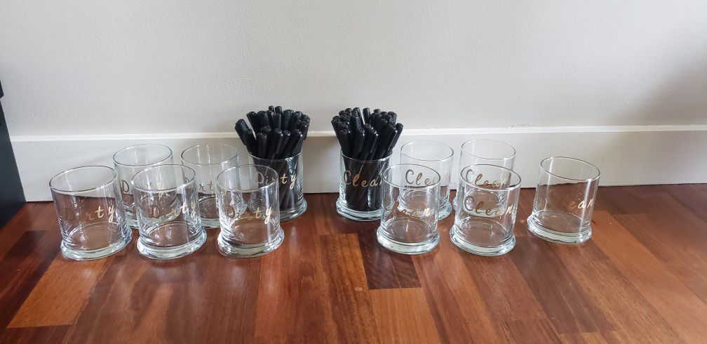 Covid Dirty And Clean Pen Glasses Wedding