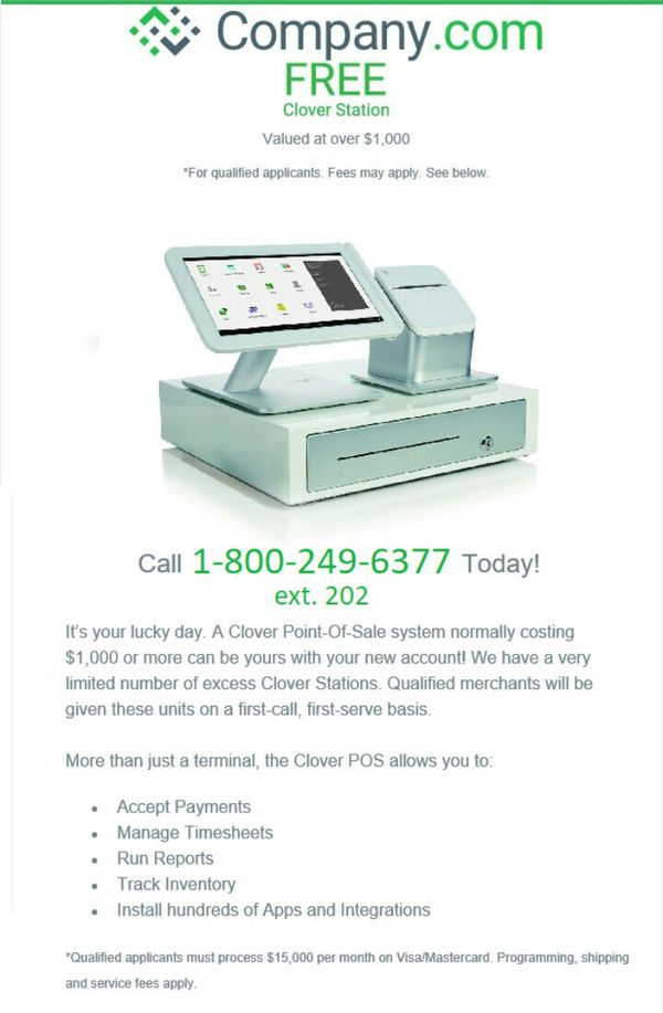 Clover Point of Sale POS system FREE for Sale in Miami Beach