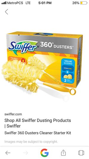 3 swiffer duster sticks with 2 dusters in each pack (6) and one refill box of swiffer refill dusters 16 pack box for Sale in Springfield, VA