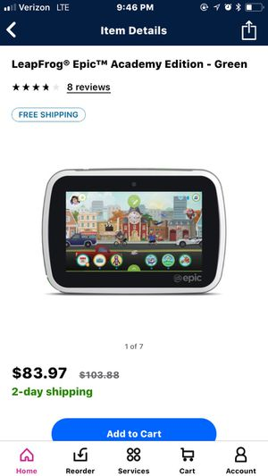 Kids leap frog tablet for Sale in Olympia, WA