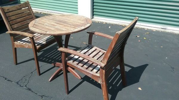 3 Piece Solid Teak Patio Furniture By New River