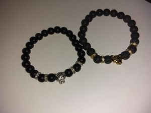 Lava Stone Bead and Leopard bracelet for Sale in Forestville, MD