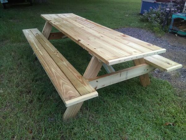 Treated Wood Picnic Tables For Sale In Fort Pierce FL OfferUp - Treated lumber picnic table