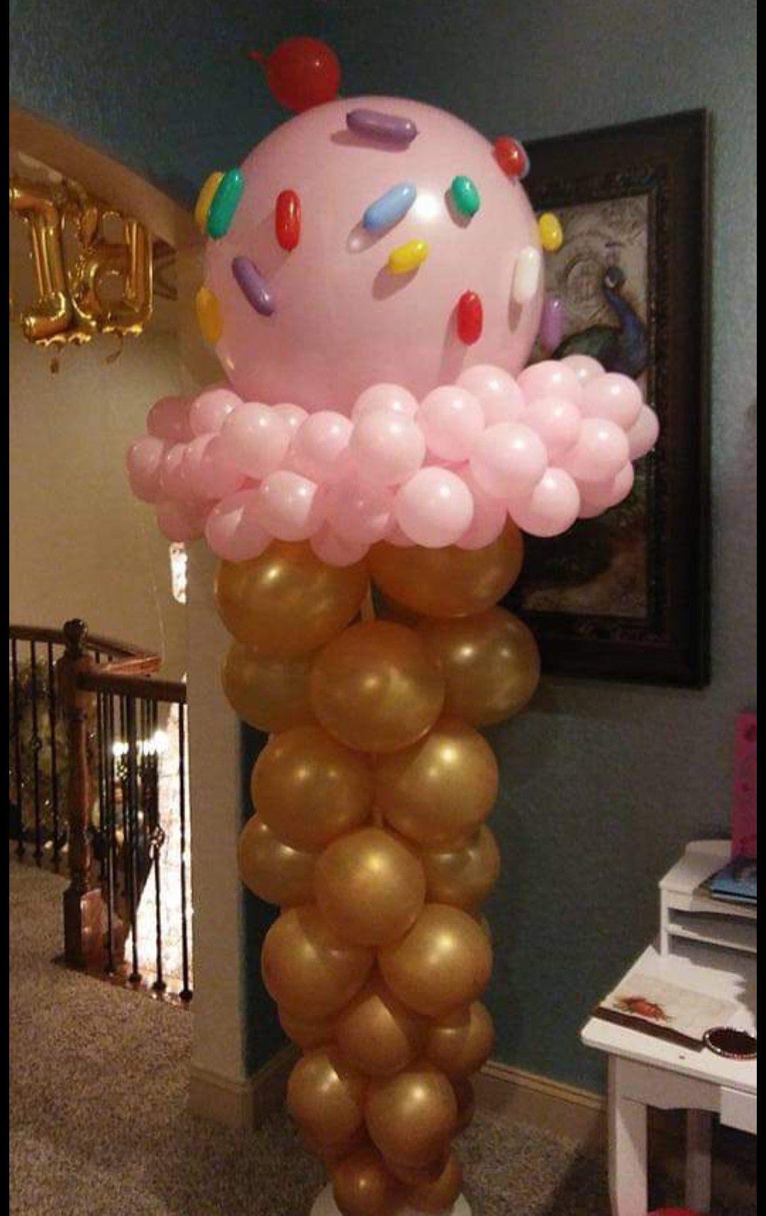 Icecream balloons pillar